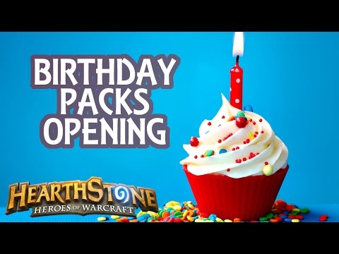 [Hearthstone] Birthday Packs Opening (+ crafting golden cards)