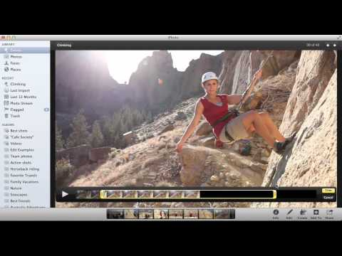 Trimming a video in iPhoto