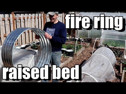 Setting Up a Fire Ring Raised Bed & Reusing Old Container/Potting Soil