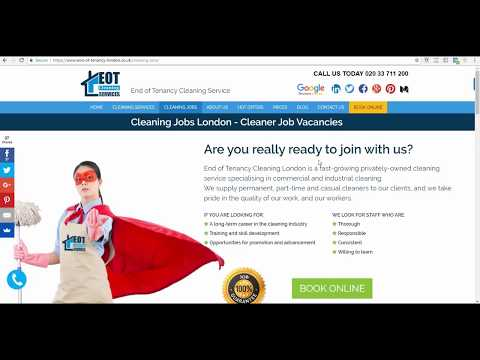 How To Get A Cleaning Job In London?