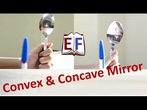 How to use Spoon as Convex and Concave Mirror ( Science Experiment )