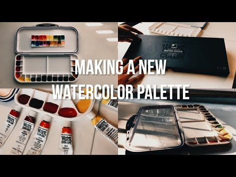 Making A New Watercolor Palette
