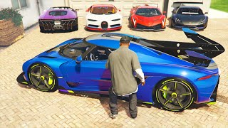GTA 5: Stealing Super Cars with Franklin #13 (GTA 5 Expensive Cars)