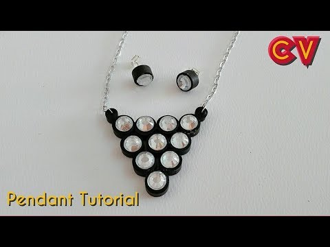 How to Make Quilling Paper Pendant / Paper Jewellery Making / Quilling Pendant / DIY