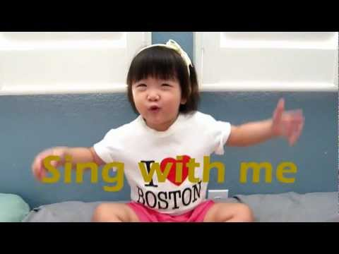 2 Year Old Singing ABC Song