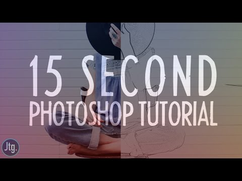 15 Second Photoshop Ep. 2: Photo to Pencil Sketch Effect Tutorial