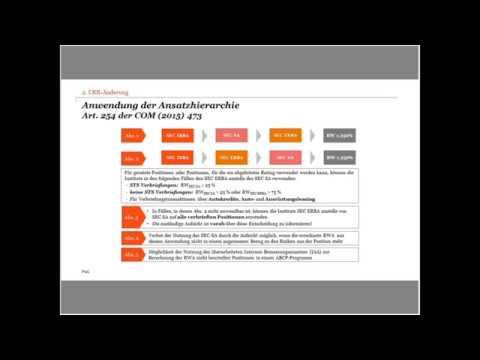 German Basel IV Channel:  Update: Neue Anforderungen an die Behandlung von Verbriefungen Teil I