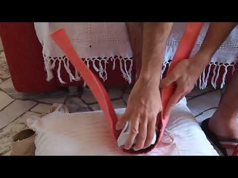 broken foot splint application