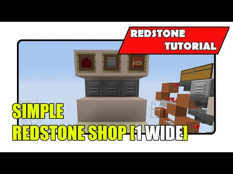 Simple Redstone Shop [1 Wide] (Minecraft Xbox TU24/CU12/PlayStation CL1.16)