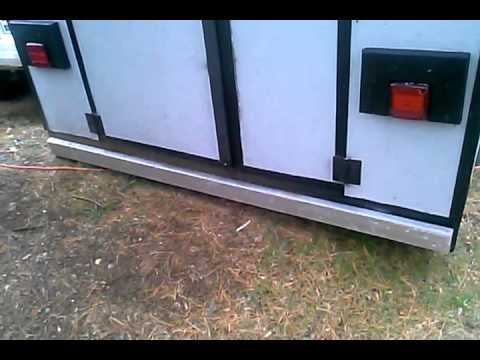 first attempt home made enclosed trailer