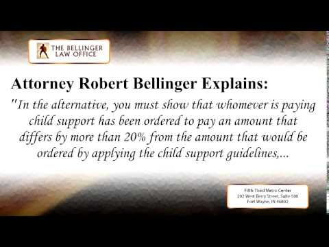 Modification Of Child Support In The State Of Indiana - Family Law Attorney | (260) 428-2214