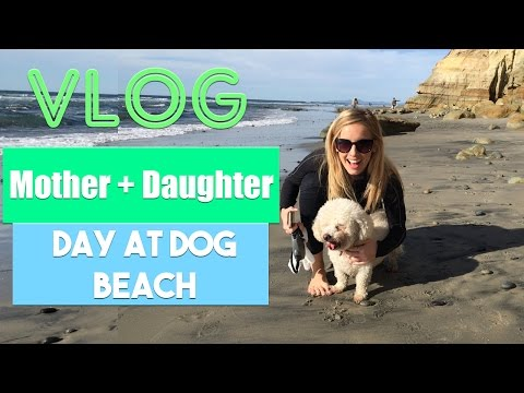 VLOG | Mother Daughter Day at the Dog Beach with Sugar
