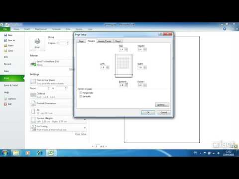 Print Preview and Basic Print Settings - Excel 2010 Level 1
