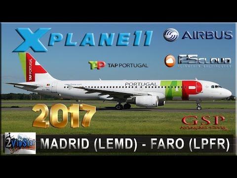 NOVO SIMULADOR VOO 2017 | A320 NEO TAP | MADRID (LEMD) - FARO (LPFR) | FSCLOUD