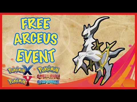 Free Arceus - How to Get August 2016