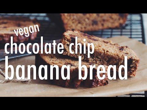 VEGAN CHOCOLATE CHIP BANANA BREAD   hot for food