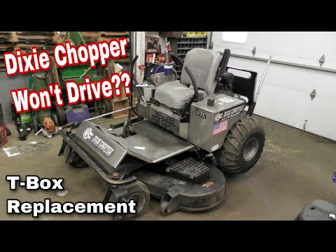 How To Fix A Dixie Chopper That Won't Drive / Replacing The T-Box (Gear Box) - with Taryl