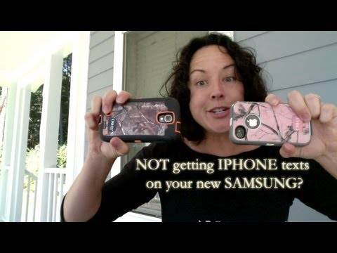 Switch from Iphone to Samsung Galaxy and no longer get texts?