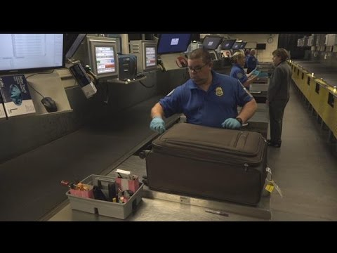 What happens to your luggage after check-in?