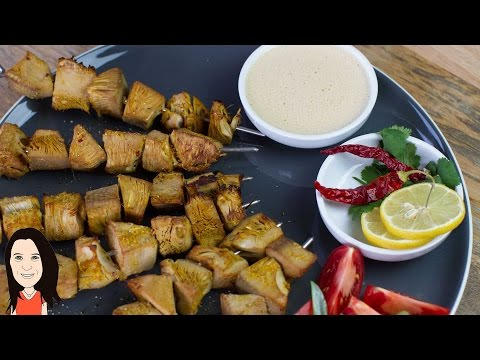 Satay Jackfruit Skewers with Peanut Sauce - Meat Free Vegan Kebab Recipe!