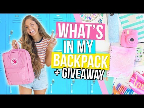 What's In My Backpack + GIVEAWAY! Huge Back To School Supplies Haul 2017!