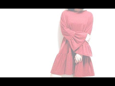 DIY Ruffle sleeve / Drop waist Dressㅣmadebyaya