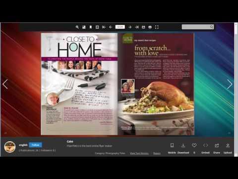 Free Online Flyer Maker FlipHTML5  to Distribute Flyers Online