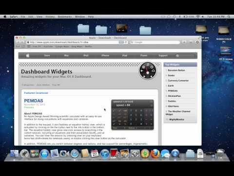 How to add and remove widgets in OS X Lion