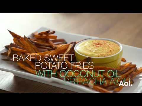 Sweet Potato Fries with Sriracha Aioli