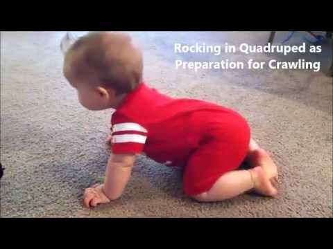 Baby Rocking on Hands and Knees Preparation for Crawling