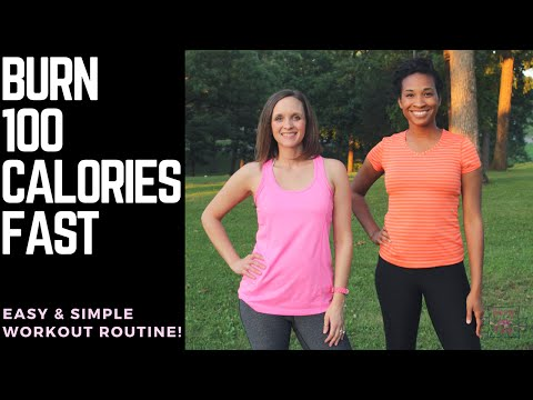 Burn 100 Calories Fast! At Home! No Equipment! (10 minutes or less!)