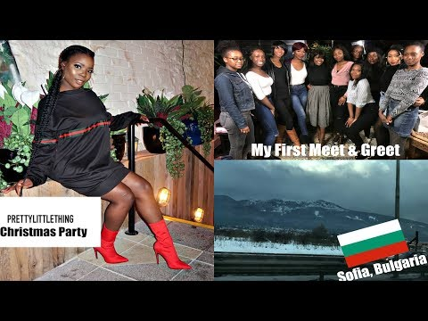 PRETTY LITTLE THING Christmas Party Dublin, MEET & Greet | BULGARIA VLOG