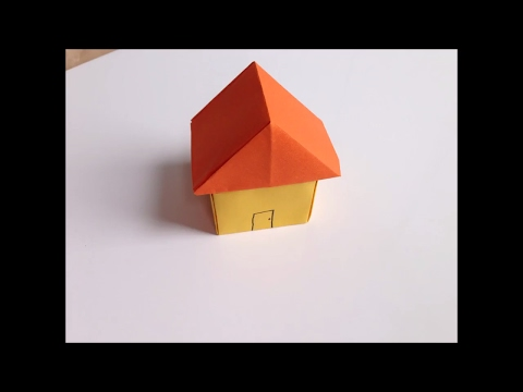 EASY ORIGAMI PAPER HOUSE | KIDS CRAFTS | PAPER CRAFTS | hOW TO MAKE PAPER hOUSE