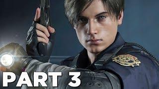 RESIDENT EVIL 2 REMAKE Walkthrough Gameplay Part 3 - DR. BIRKIN BOSS (RE2 LEON)