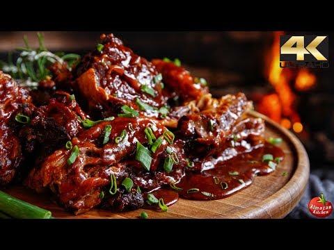 ASMR BBQ Ribs - DANGEROUS to Watch!