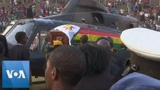 Mugabe Casket Arrives at Stadium in Zimbabwe