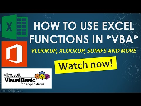 Use VLOOKUP (or any function) from VBA Code