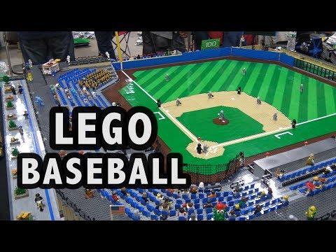 Custom LEGO Baseball Stadium | Philly Brick Fest 2017