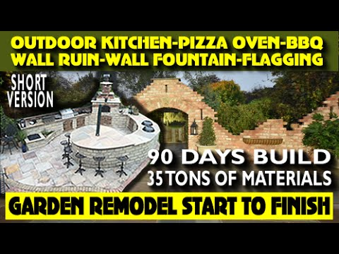 FULL 90 DAY BUILD OUTDOOR KITCHEN / BBQ / RUIN WALL / FLAGGING