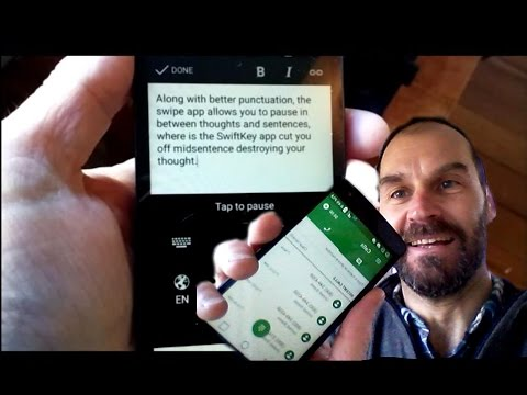Speech-to-Text Dictation with Swype + Dragon App