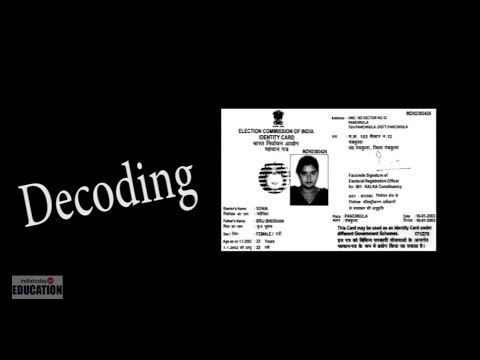 Decoding Voter ID Card