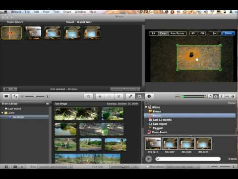 Using Still Images in iMovie '09