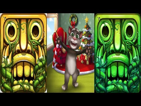 Temple Run 2^My Talking Tom Level 1^Temple Run 2*GOLDEN TRIAL*Gameplay make for kid #