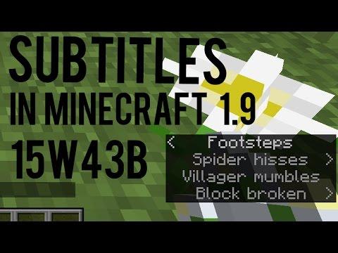 Snapshot 15w43b - Subtitles in Minecraft 1.9