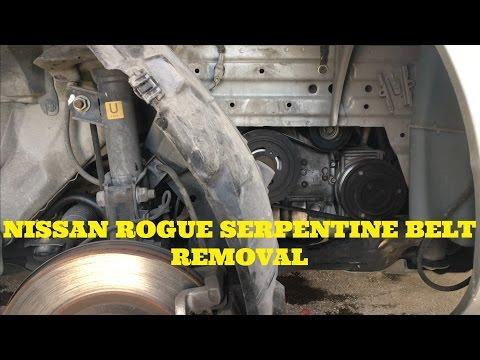 Nissan Rogue 2.5 Serpentine belt replacement