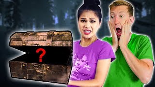 FOUND HAUNTED TREASURE CHEST Exploring ABANDONED DESERT Mystery Box Unboxing Challenge Haul