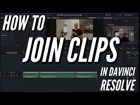 How To JOIN Clips in Davinci Resolve