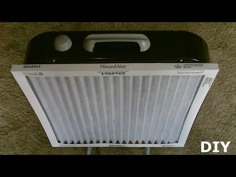 DIY Air Filtration System!  - Homemade Air Purifier - Simple
