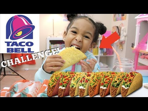 THE TACO BELL CHALLENGE!!!! *MUKBANG * ASMR *Extreme Crunchy Sounds*