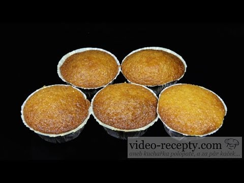 Quick vanilla muffins - video recipe